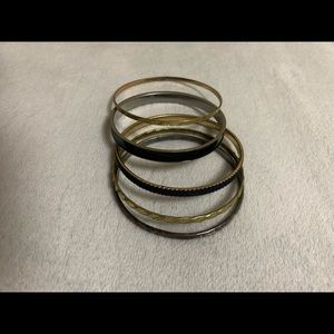 5 Piece Gold & Silver Bracelets
